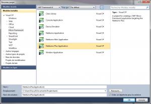 Nouveau projet netduino plus sous Visual Studio