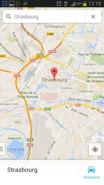Google maps sans info trafic